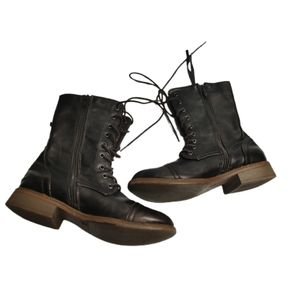 Nevada Lace Up Lined Combat Boots Glossy Boots 7